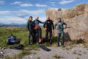 Zespół w komplecie od lewej: Jacek, Henryk, Jan i Stanisław (fot. Jacek Malinowski)