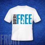 koszulka, wzór FREEDIVER 001
