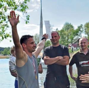 Tomek Kotarski, zwycięzca tegorocznego triathlonu